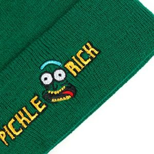 fe215232b5d5b Rick and Morty Accessories - New Rick and Morty Pickle Rick Green Beanie